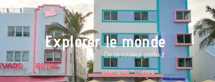 Maisons de couleurs à travers lemonde